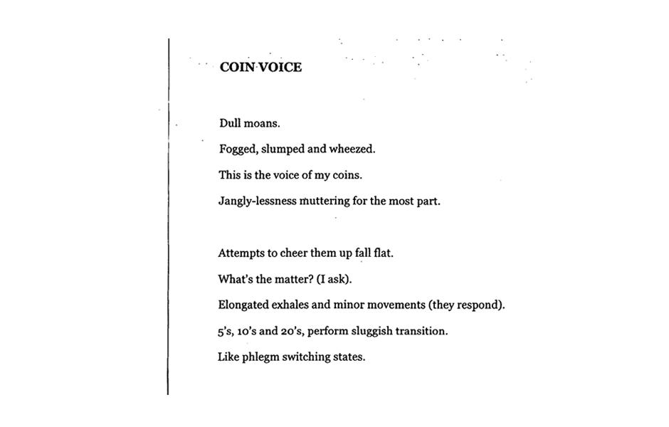 Matthew Hopkins, Coin Voice, 2014