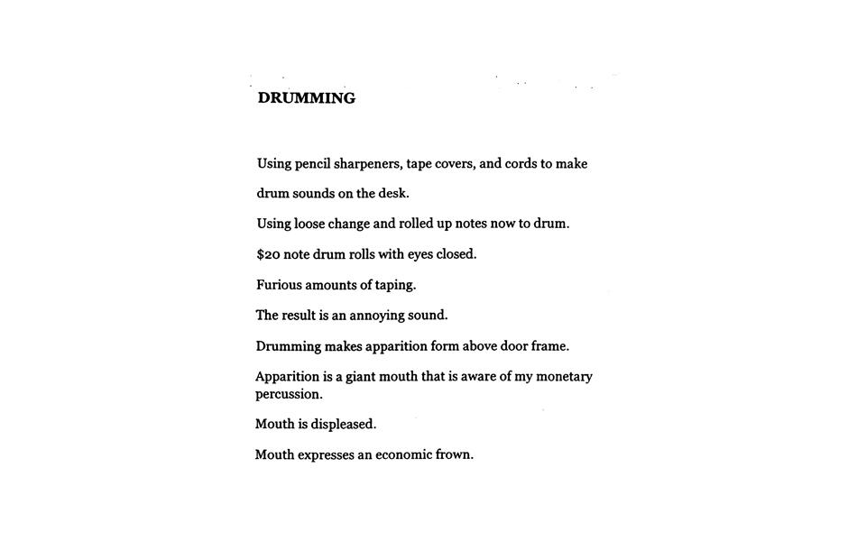 Matthew Hopkins, Drumming, 2014