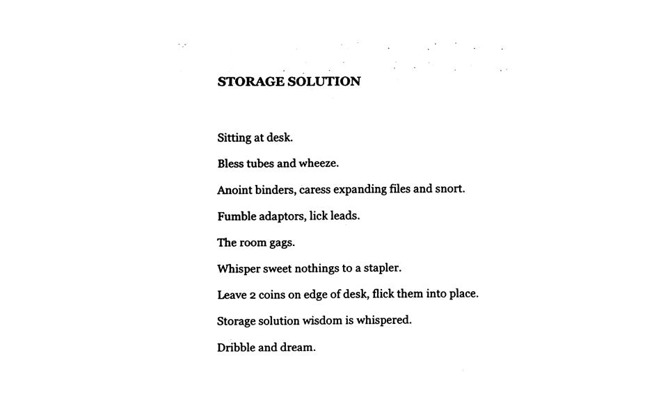 Matthew Hopkins, Storage Solution, 2014