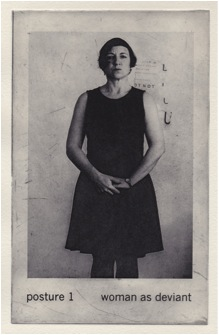 Carolyn Craig, Posture 1 Woman as Deviant  2104, photopolymer etching, 20 x 12cm