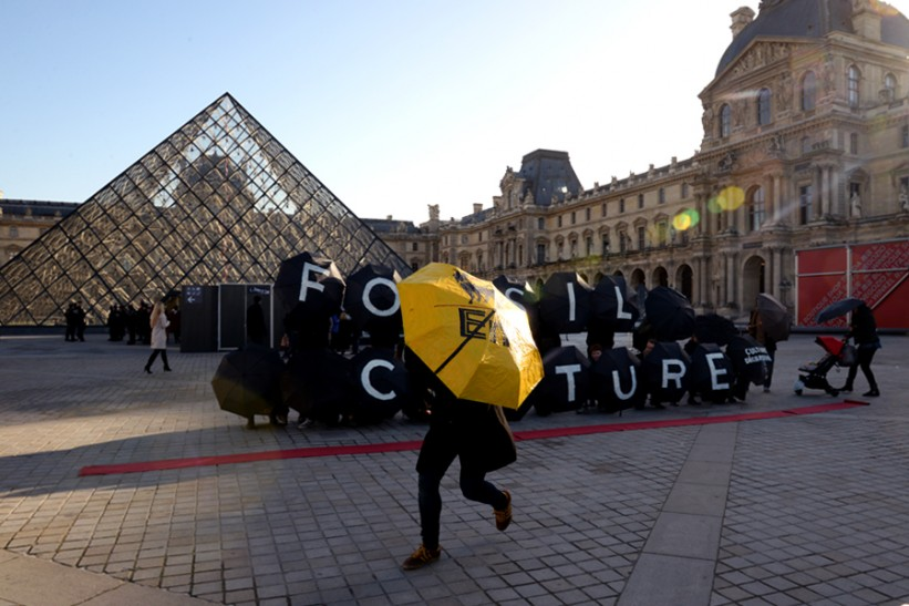 'Big Oil Out of Culture,' Paris, December 2015. Credit: Author