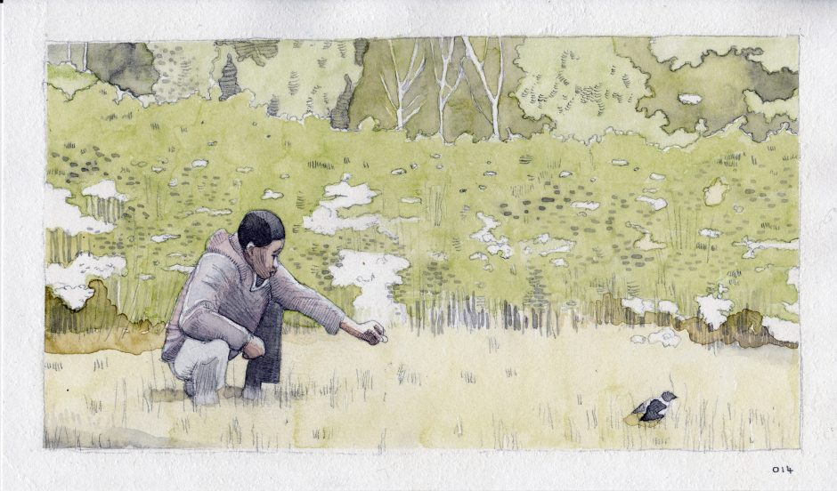 Feeding A Bird: Scene 14